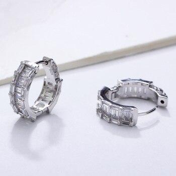 17 mm diameter Real 925 sterling silver hoop earrings Attractive jewelry fine jewellery forward design silver earring for women 3