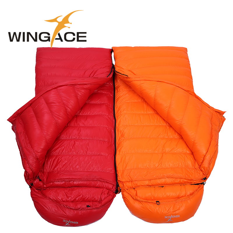 WINGACE Fill 3000G Goose Down Winter Sleeping Bag Ultralight Outdoor Hiking Camping Equipment Envelope Warm Down Sleeping Bag sleeping bag of 800 fill power goose down for 18 degrees celsius outdoor camping qingyun 700g filling l and r size