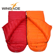 WINGACE Fill 3000G Goose Down Winter Sleeping Bag Ultralight Outdoor Hiking Camping Equipment Envelope Warm Down Sleeping Bag все цены