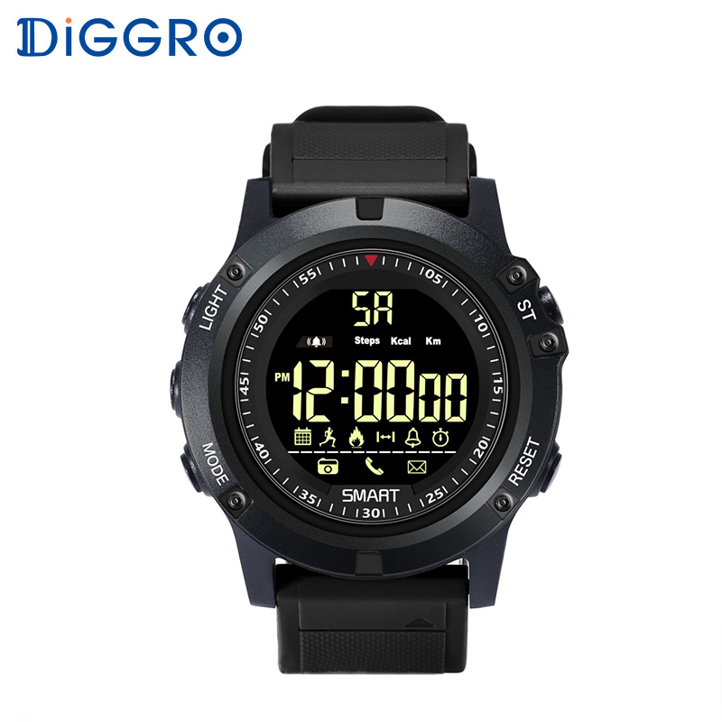Diggro EX17S Smart Watch IP68 Waterproof 5ATM Pedometer Message Reminder Long St