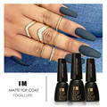 FOCALLURE 7ML Matte Varnish Matte Top Coat Nail Gel Polish Nail Art Finish Top Coat Gel Lacquer Matt Top Gel
