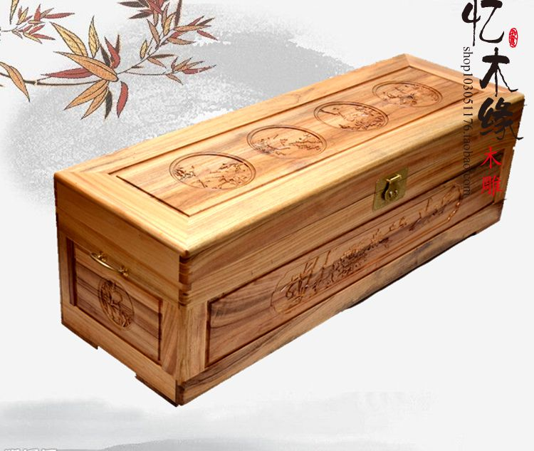 Camphor wood box antique painting box insect suitcase carved wood storage box gift box containing a dowry kz headset storage box suitable for original headphones as gift to the customer