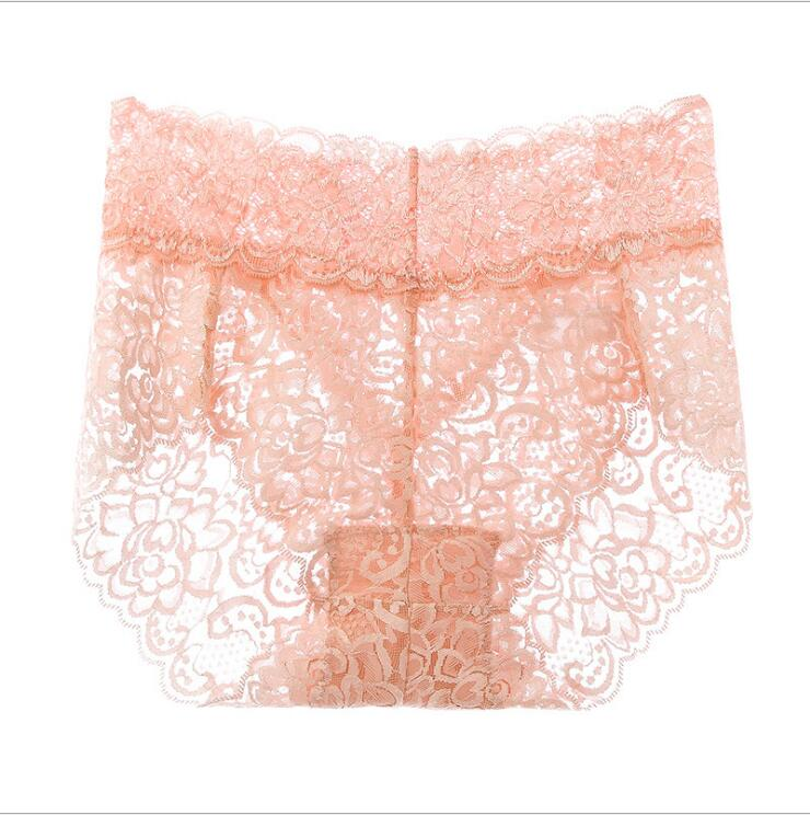Free Shipping 2019 summer underwear new lace waist  sexy breathable #7386 Size L XL XXL