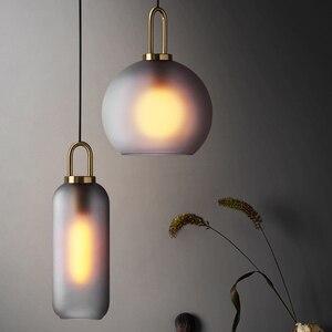 Image 1 - Vintage Postmodern Nordic Pendant Lights Creative Suspended Glass Jar Hanging Lamp Dining room Restaurant Bar Pendant Light