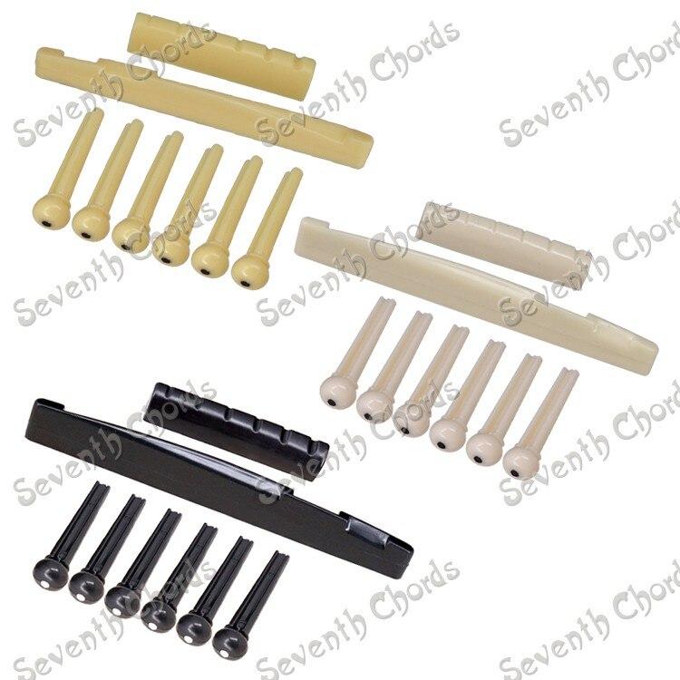 3 комплекта пластиковая гитара мост седло& Гайка& Колки для гитары для акустической гитары