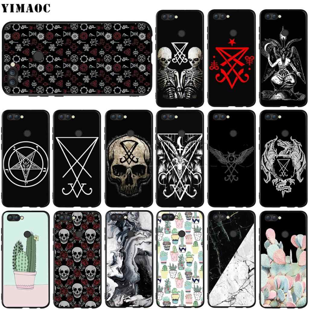 YIMAOC Sigil of Lucifer Seal Satan Silicone Case for Huawei Honor 6a 7a 7c 7x 8 9 10 Lite Pro Y6 Prime 2018 2017