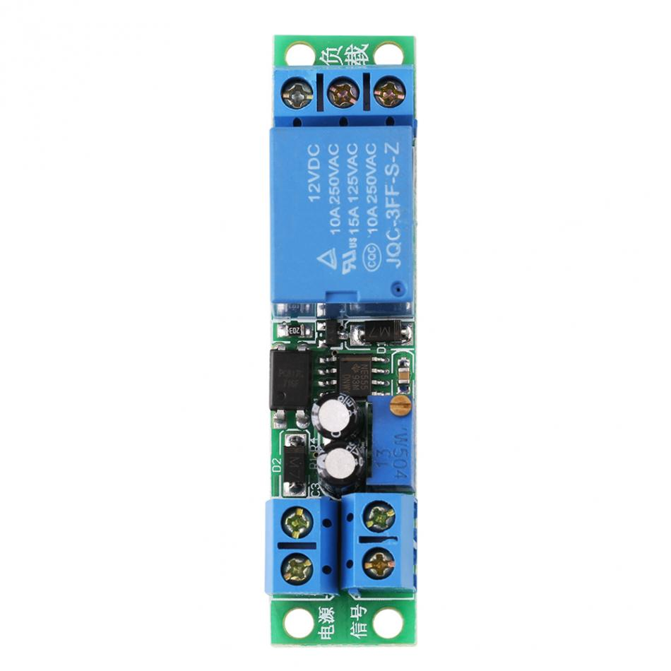 Dc12v Adjustable Signal Trigger Turn Off Delay Timer Switch Relay How To Build Toggle Circuit Using A 556 Diagram Module In Switches From Lights Lighting On Alibaba Group