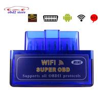 Super Mini ELM327 WiFi ELM 327 OBD2 Car Diagnostic Tool OBDII Code Reader Scanner For IOS