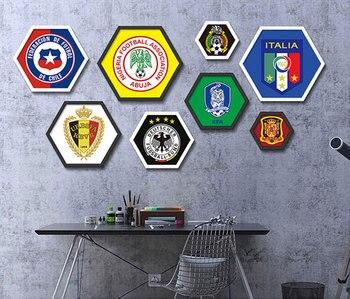Fußballplatz Wm Malerei Bild für Wohnzimmer Fußball Fan Wohnkultur Wand Drucke 50*43 cm