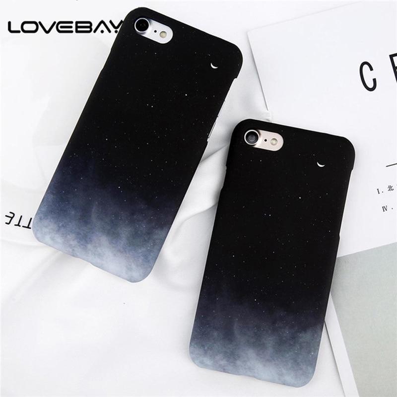Lovebay чехол для iPhone X XR XS Max 8 7 6 6s плюс прекрасный мультфильм звездное небо Луна ультра тонкий жесткая задняя панель из поликарбоната делам Кап...