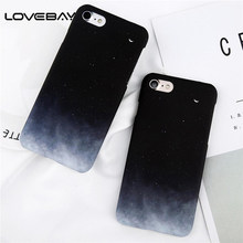 Lovebay Phone Case For iPhone X XR XS Max 8 7 6 6s Plus Lovely Cartoon Starry Sky Moon Ultra Thin Hard PC Back Cover Cases Capa(China)