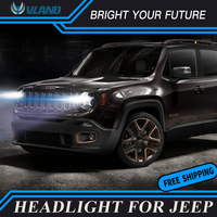 Headlights For Jeep Renegade 2016 2017 LED Headlight Renegade Head Lamp Daytime Running Light