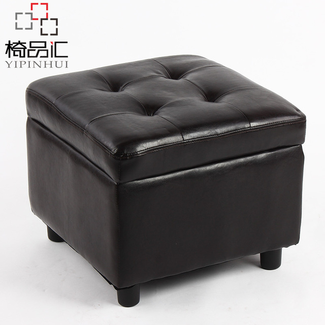 Beau Chair Collection Leather Sofa Stool Storage Stool Storage Box Simple  Changing His Shoes Stool Ottoman Stool