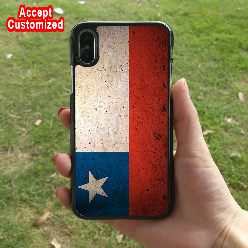 Patterned Chile Flag Shell Case Cover for Apple iPhone 5 5S SE 6 6S 7 8 Plus X XS Max XR