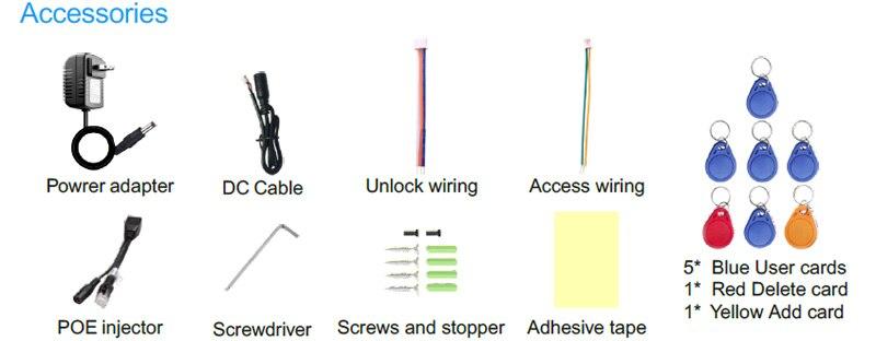 Купить с кэшбэком 720P Wireless Wifi Video door Phone Doorbell Intercom RFID Camera Remote Unlock P2P Motion Detection With SD Card Slot
