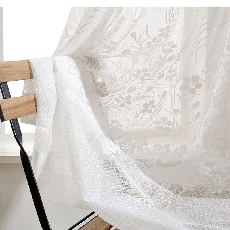 NORNE White Sheer Window Curtain Panels Drapes for Bedroom Living - Home Textile - Photo 6