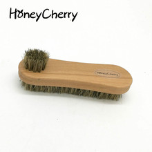 Double Sided Polishing Brush To Wipe The Shoes Were Frosted Fur Leather Oil With Soft Hair pig hair