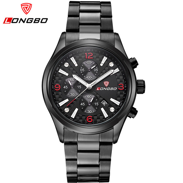 LONGBO Mens Watches Top Brand Luxury Male Quartz Casual Watch Man Date Clock Waterproof Sport Watches relogio masculino 80184
