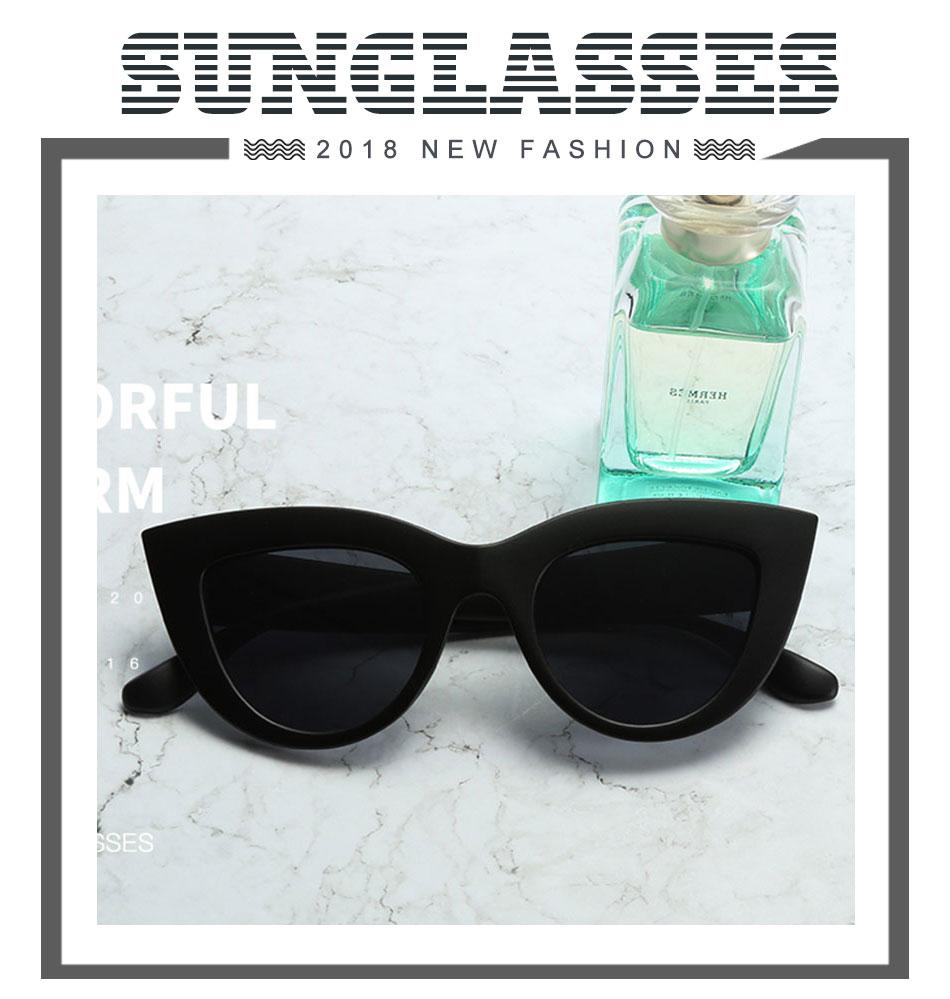 Black Classic Cat Eye Women Sunglasses Designer Brand Trend Style Glasses Adult Eyeglasses 1