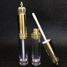 New Crown Empty Lip Gloss Tube Refillable DIY Transparent Bottle Lip Balm Liquid Batom Container Eyelash Growth Cosmetic Tool