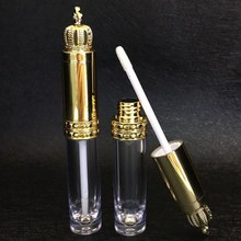 Nowa korona pusty błyszczyk rurka z wymienialnym wkładem DIY przezroczysta butelka balsam do ust cieczy Batom pojemnik wzrostu rzęs narzędzia kosmetyczne