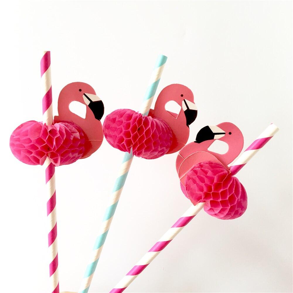 Flamingo Party Straws 10Pcs/set Reusable Plastic Straws Party Diy Decorations Paper Straws Wedding Table Decoration Supplies,9 3