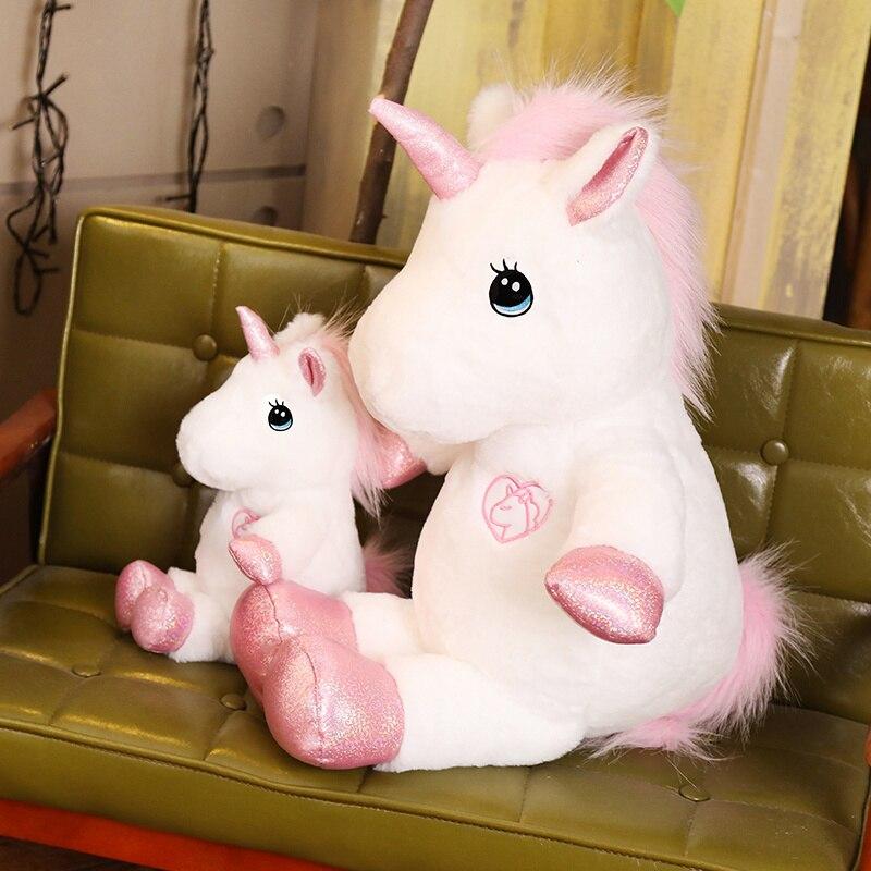 30/60/80cm Lovely Unicorn Plush Toy Stuffed Kawaii Soft Toys for Children Creative Birthday Gift Girls Lovers