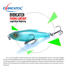 Купить с кэшбэком EVERCATCH VIB Lure 48m/4.4g Sinking VMC Hook Iscas Artificiais Para Pesca Leurre Peche Fishing Big Wobblers Hard Fishing Baits