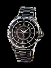 00607074614 Royal Crown joyería reloj 3821M-5 Italia marca diamante Japón MIYOTA J12  cerámica Cristal de lujo leopardo señoras cuarzo