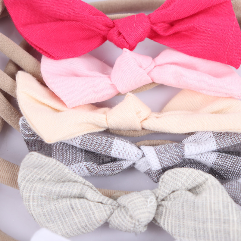6Pieces-set-Fabric-Knotted-Bow-Headband-For-Kid-Girls-Elastic-Nylon-Hairband-Headwraps-Hair-Accessories