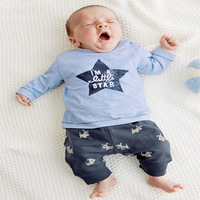 New Born Bebek Giyim Underwear Baby Boys Clothes Spring Fashion Recien Nacido Two Piece t-Shirt+Pants Baby Set