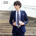 Suit twinset slim fashion easy care male business casual suit professional groom wear XKS