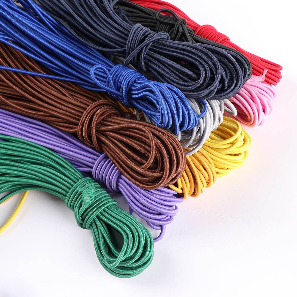 3mm 10m New Colorful Nylon Elastic Band Round Rubber Sewing Rope DIY Line Fabric Apparel Craft  DIY Sewing Accessories