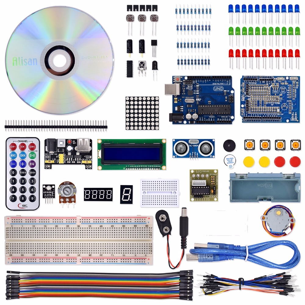 Image 2 - 2018 Hot sale UNO Project The Most Complete Starter Kit for Arduino UNO R3 with Tutorial /1602 LCD /UNO R3/Resistor-in Electronics Production Machinery from Electronic Components & Supplies