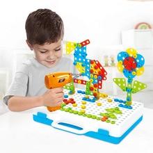 Детские сверлильные винтовые гайки, паззлы, игрушки, ролевые игры, инструмент, дрель, разборка, сборка, детская игрушка, сверлильный пазл, развивающая игрушка для мальчика