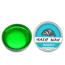 IMMETEE New Product Hair Color Wax For Men&Women Hair Styling Green 120g*2 immetee new product hair color wax for men