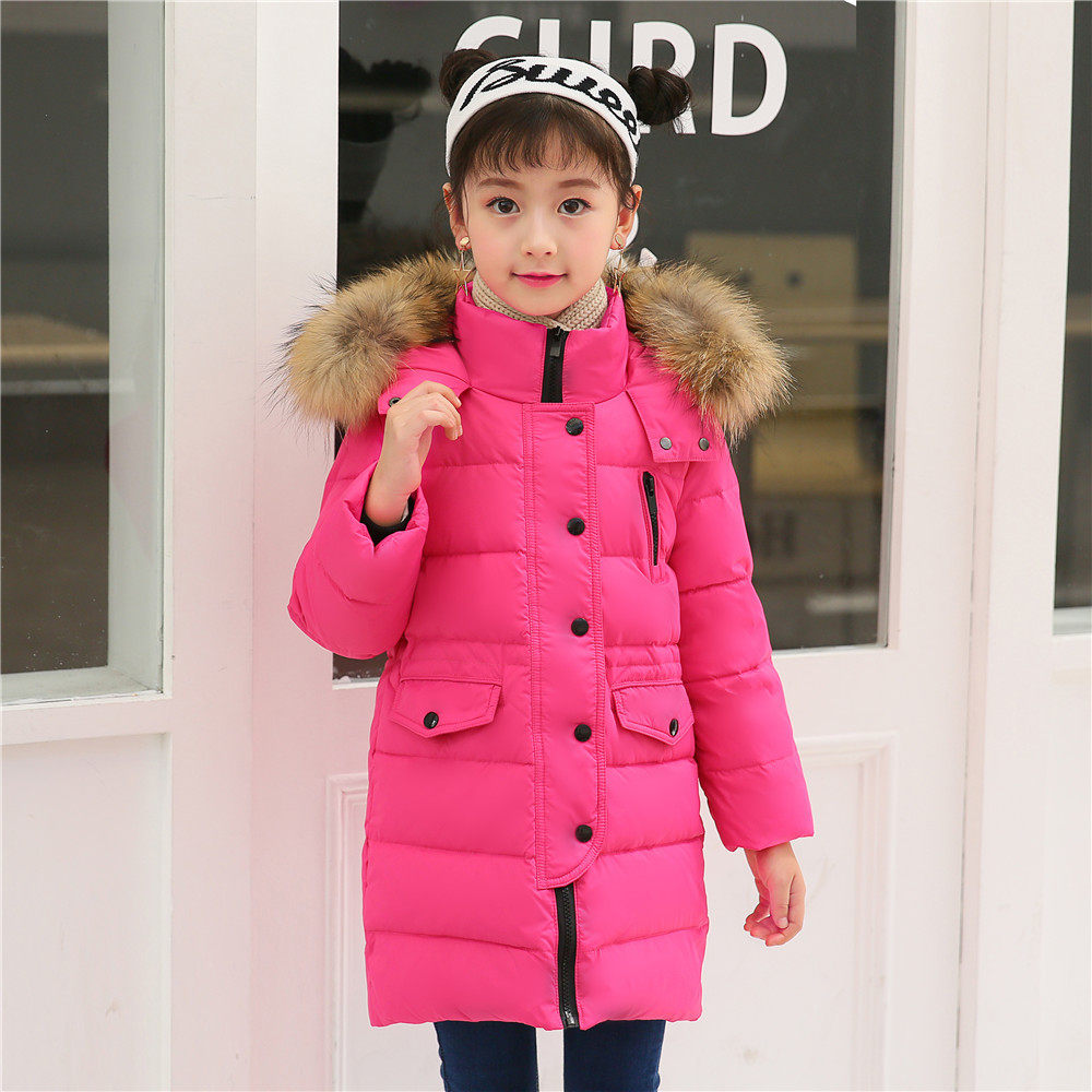 2018 Children's Down Jacket Girls Long Parkas Jacket Baby Girls Boys Warm Thickened Winter Hooded Coat Outerwear 100-160 2015 new hot winter thicken warm woman down jacket coat parkas outerwear hooded splice mid long plus size 3xxxl luxury cold