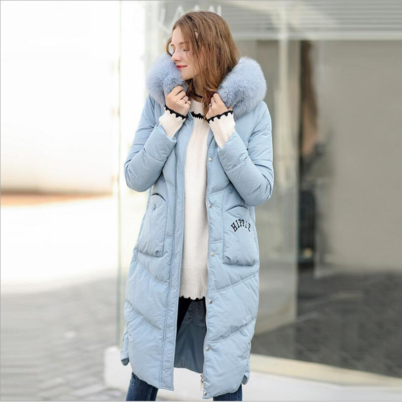 Women Parka Winter Coats 2017 Quality Women Warm Down Cotton Coat Outwear Fur Hooded Medium Long Slim Thick Jackets 2017 new famale down cotton coats women winter warm large fur hooded parkas girls medium long thick slim winter jackets cm1704