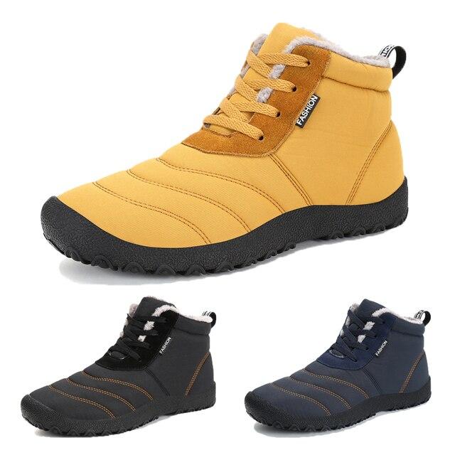 d8b588e6 Zapatos de invierno al aire libre de los hombres zapatillas de deporte Botas  de piel Mujer