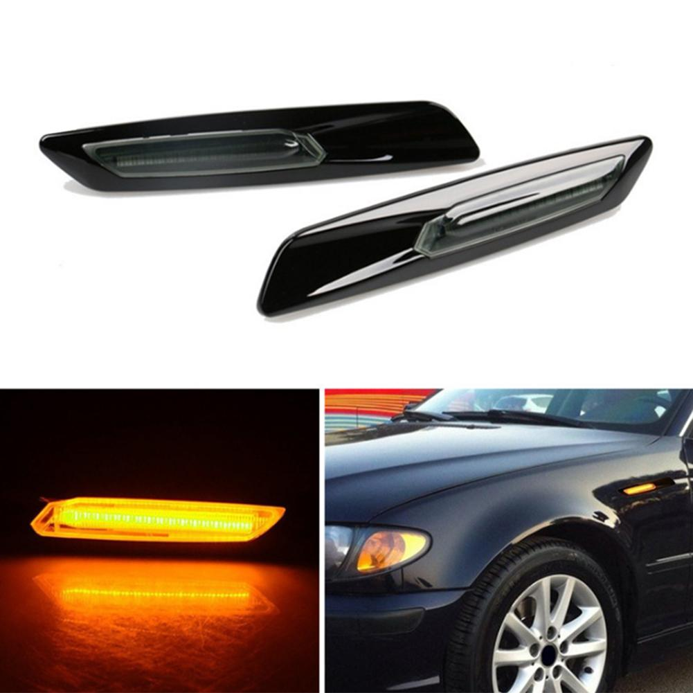 New 2pcs Waterproof LED Side Marker Light Free OE Socket Smoker Lens Low Power Consumption For BMW 1 Series 3 Series 5 Series in Decorative Lamp from Automobiles Motorcycles