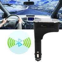 Car Kit Bluetooth Radio Adapter Handsfree FM Transmitter MP3 For IPhone Samsung LCD Liquid Crystal Display
