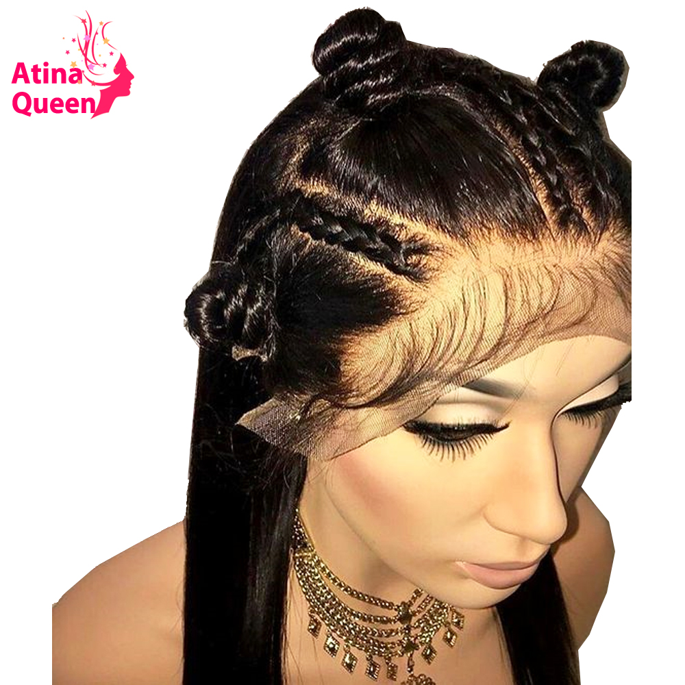 Full Lace Wigs Human Hair With Baby Hair 250 Density Malaysian Glueless Pre Plucked Full Lace