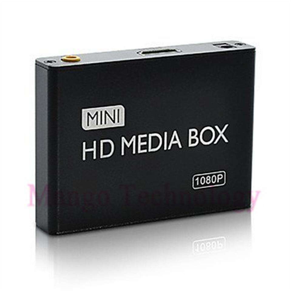 2018 mini HDMI Media Player 1080 P HDD-HDMI Full HD TV Vidéo multimédia lecteur boîte soutien MKV/RM-SD/USB/SDHC/MMC Livraison Gratuite
