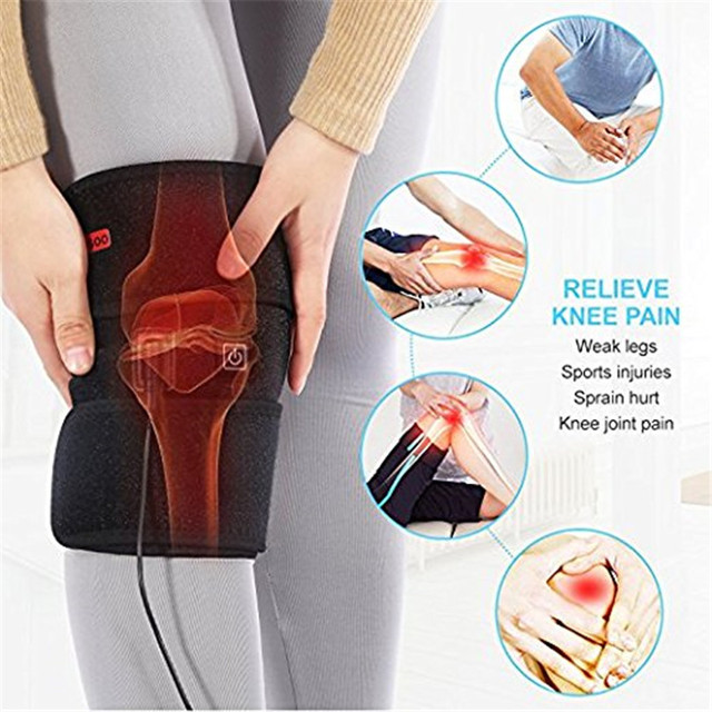 af9f9301ebd Electric Heat Knee brace Therapy Wrap support belt For Cold Compress Knee  Injury Arthritis Cold Hot Warm Therapy Pain Relief Pad