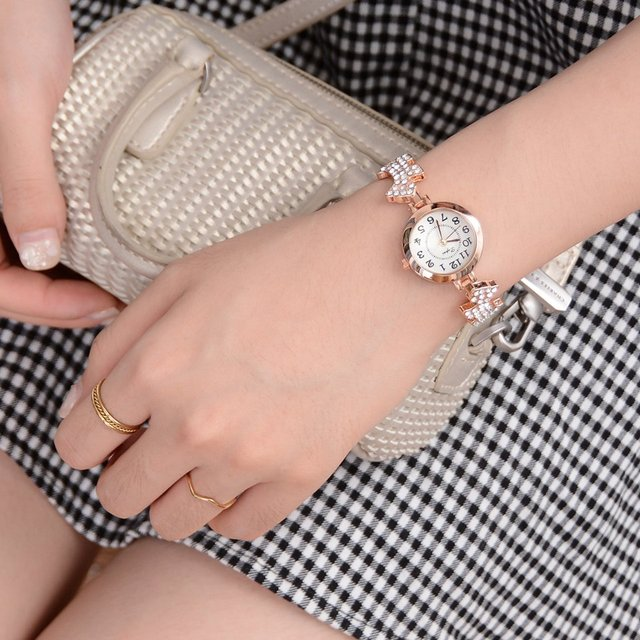 Women's Dogs Decorated Bracelet Watches with Crystalls