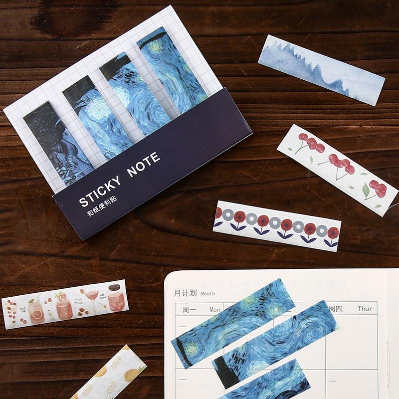 Creative Van Gogh Starry Sky Sticky Notes Memo Pad Diary Stationary Flakes Scrapbook Decorative Kawaii N Times Sticky