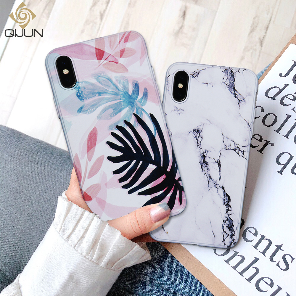 QIJUN Phone-Case Fundas Back-Cover S8 S9 Plus Soft-Silicone Samsung Galaxy Luxury