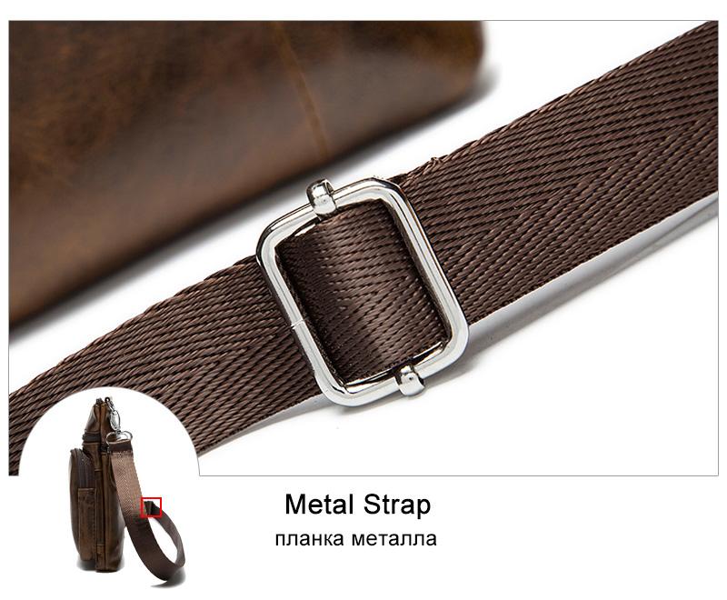 WESTAL Messenger Bag Men's Shoulder Genuine Leather bags Flap Small male man Crossbody bags for men natural Leather bag M701 16