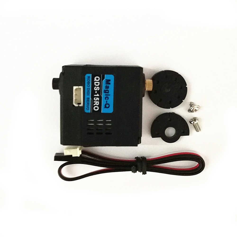 15kg Digital servo for Robot /220 deg / Metal gear/diy robot parts/Colorful  flash/cabe detachable