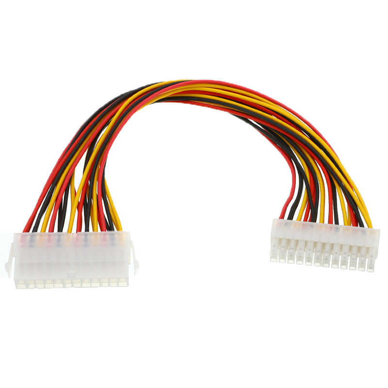 חדש ATX 24 פינים זכר 24Pin נקבה ספק כוח הארכת כבל פנימי מחשב PSU TW כוח עופרת מחבר חוט עבור מחשב כונן קשיח